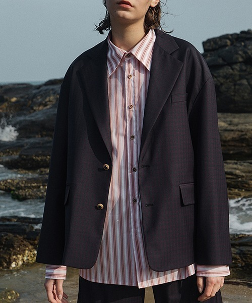 【LeonoraYang】Shadow plaid jacket chw1514