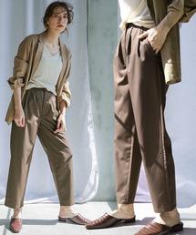 select MOCA(セレクトモカ)のアンクルテーパードパンツ/美形シルエットバックポケット付きスラックスパンツ(パンツ)
