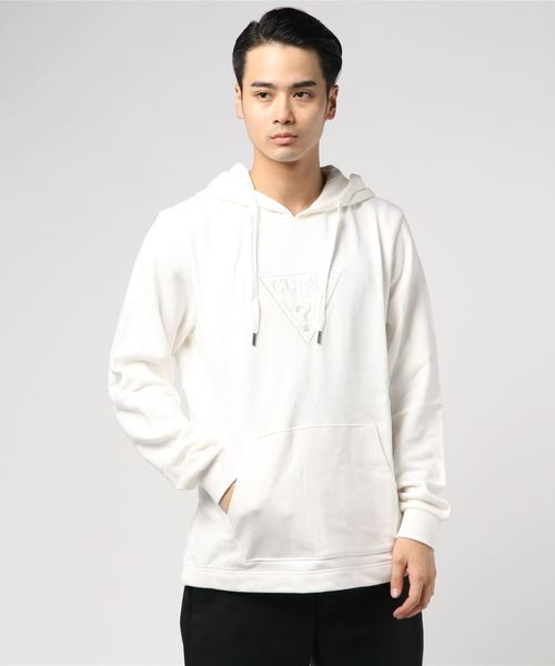 EMBROIDERY TRIANGLE LOGO PULLOVER PARKA