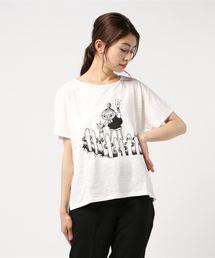 MOOMIN(ムーミン)の【ムーミン】ミイ&ニョロニョロTEE(Tシャツ/カットソー)