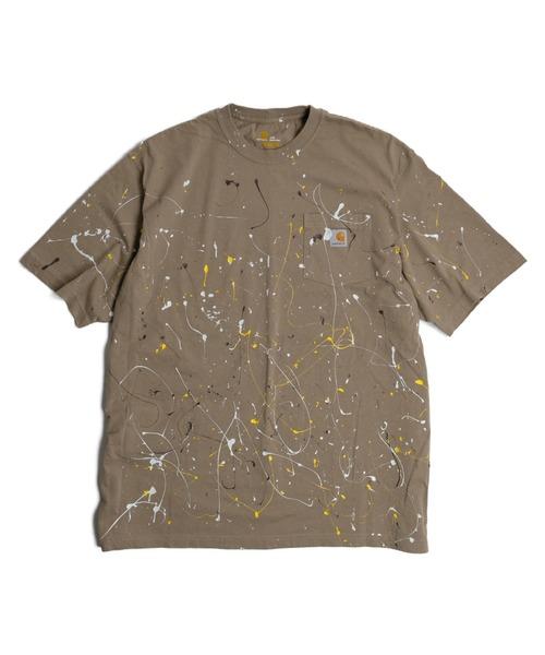 C.E.L.STORE(セルストア)の「RE CONSTRUCT/リコンストラクト PAINT WORKERS POCKET TEE(Tシャツ/カットソー)」|サンドベージュ