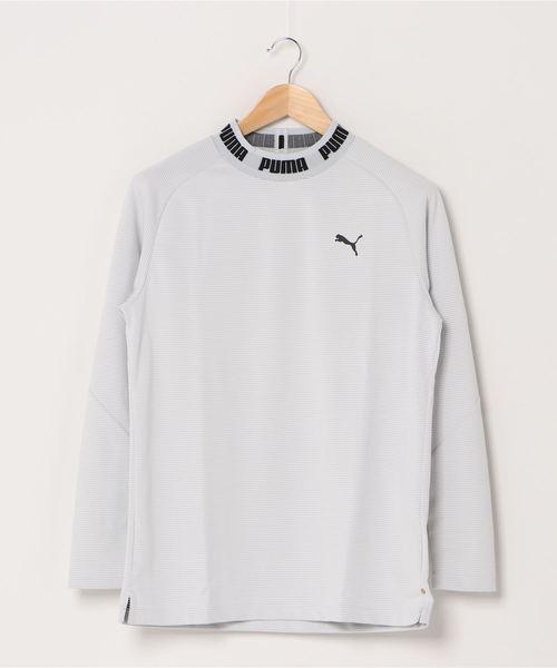 PUMA(プーマ)の「PUMA プーマ ゴルフ タイトスリーブ モックネック ポロシャツ(ポロシャツ)」 ホワイト