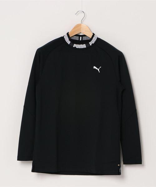 PUMA(プーマ)の「PUMA プーマ ゴルフ タイトスリーブ モックネック ポロシャツ(ポロシャツ)」 ブラック