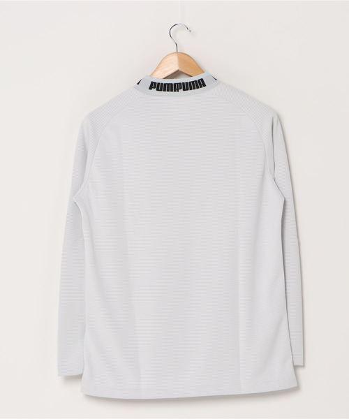 PUMA(プーマ)の「PUMA プーマ ゴルフ タイトスリーブ モックネック ポロシャツ(ポロシャツ)」 詳細画像