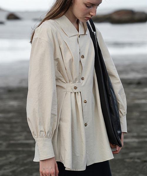 【LeonoraYang】Asymmetric shirt chw1515