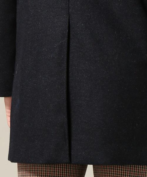 ウールカシミヤ ツイール ステンカラーコート