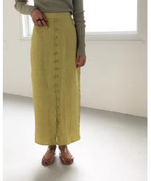 TODAYFUL(トゥデイフル)のフロントボタンサテンスカート(スカート)