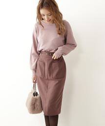 PROPORTION BODY DRESSING(プロポーションボディドレッシング)のベルト付ビッグポケットタイトスカート(スカート)