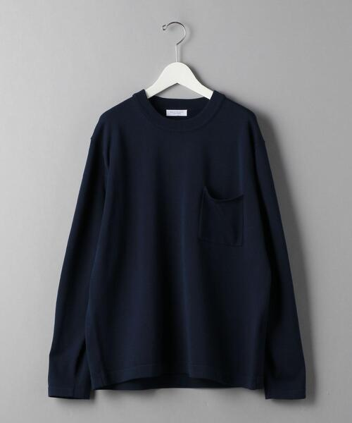 BY 1ポケット ニット Tシャツ