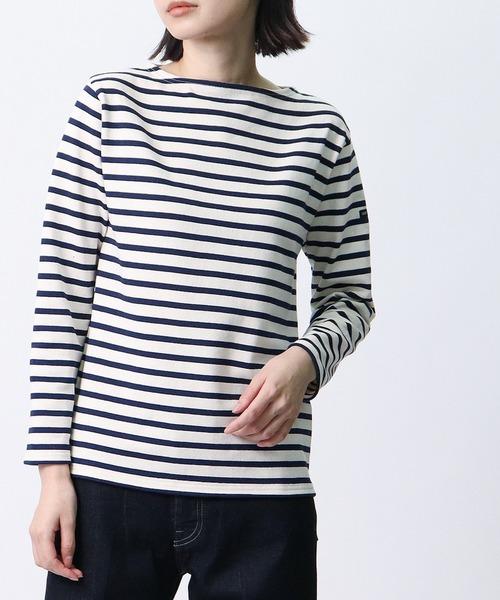 【SAINT JAMES / セントジェームス】ボートネック バスクシャツ 2501 GUILDO R A
