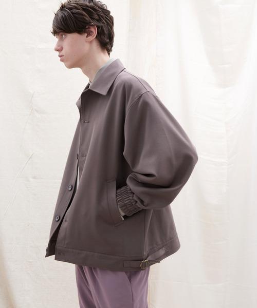 TRストレッチ ルーズスリーブ オーバーサイズブルゾン【EMMA CLOTHES/エマクローズ】2021 SPRING