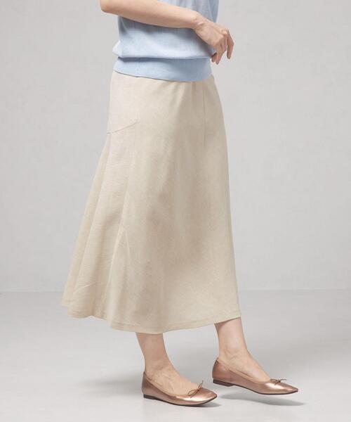 <closet story>□CSC バックキリカエ バイヤススカート -手洗い可能-