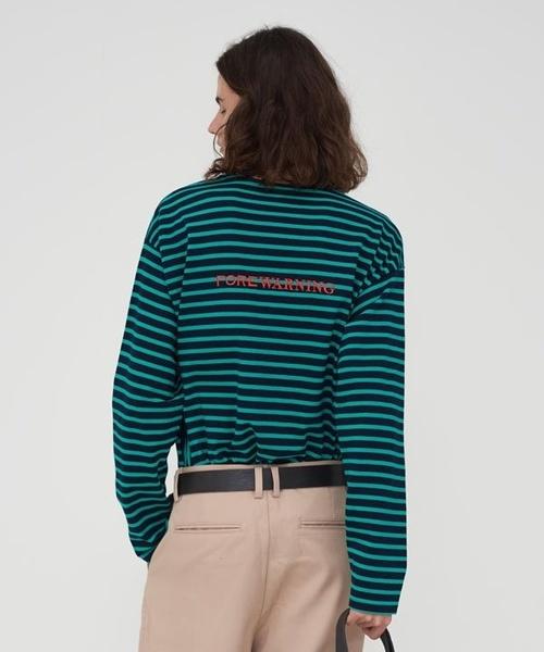 【AGENDER】シンボル ストライプ Tシャツ