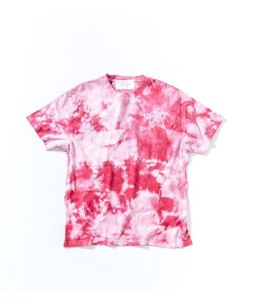 ACANTHUS: embroidery logo star tie-dye Tee: エンブロイダリーロゴスタータイダイTシャツ