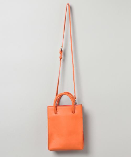 JEANASIS(ジーナシス)の「ミニショッパーバッグ/841460(ショルダーバッグ)」 オレンジ