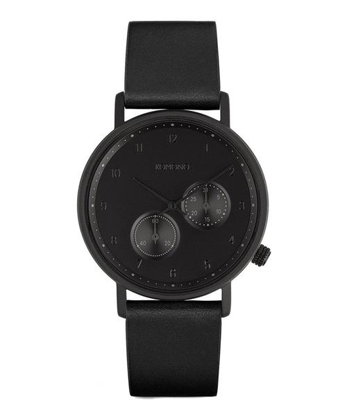 KOMONO.(コモノ)の「「KOMONO コモノ」腕時計ワルサー(アナログ腕時計)」|ブラック×ブラック