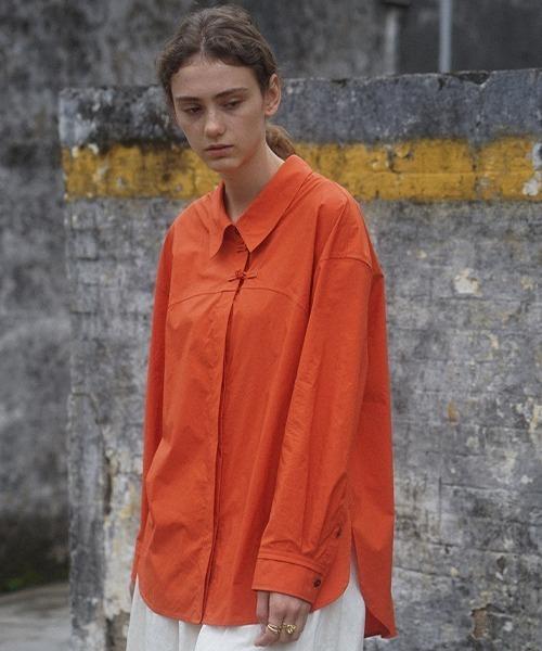 【LeonoraYang】Washed cotton shirt chw1517