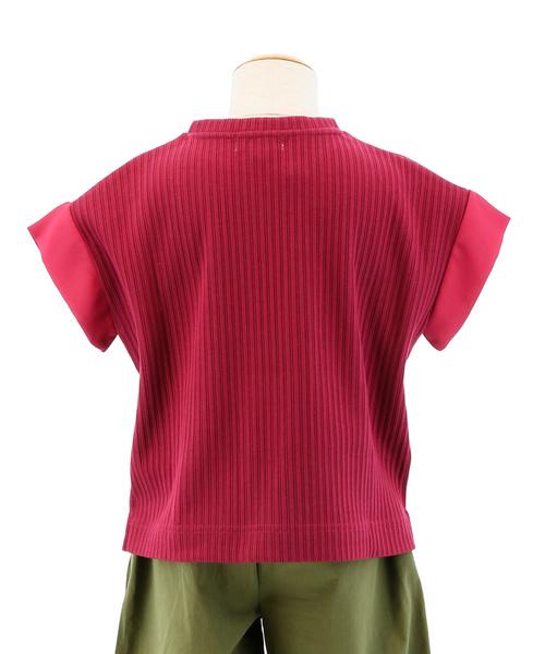 ファイン ファインズ/FAIN FAINS クロスコーディネートGIRLS 針抜きクル-ネック半袖ゆるプルオーバーTシャツ(同商品でレディース企画あります)