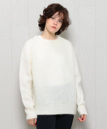 <H>MOHAIR CREW NECK KNIT/ニット
