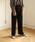 Auntie Rosa(アンティローザ)の「【Auntie Rosa】ロングワイドリブパンツ(パンツ)」|ブラック