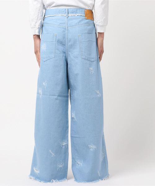 【Edwina Horl】  damage wide denim pants