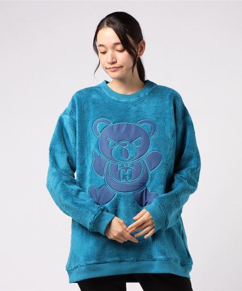 HYS BEAR刺繍 オーバーサイズスウェット