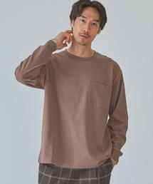 別注 [ ユニバーサルオーバーオール ] UNIVERSAL OVERALL ロゴ 長袖 Tシャツ