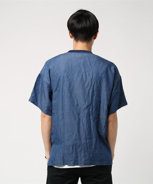SS DENIM LAYER TEE