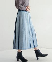 NOMBRE IMPAIR(ノンブルアンペール)のブリーチプリーツデニム プリーツスカート(デニムスカート)