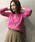 PICCIN(ピッチン)の「VILOFT変形ワイドリブVネックニット(ニット/セーター)」|ピンク