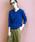 PICCIN(ピッチン)の「VILOFT変形ワイドリブVネックニット(ニット/セーター)」|ブルー