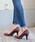 LibertyDoll(リバティードール)の「ポインテッドトゥ8cmピンヒール走れる美脚パンプス(パンプス)」|ダークブラウン