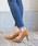 LibertyDoll(リバティードール)の「ポインテッドトゥ8cmピンヒール走れる美脚パンプス(パンプス)」|キャメル