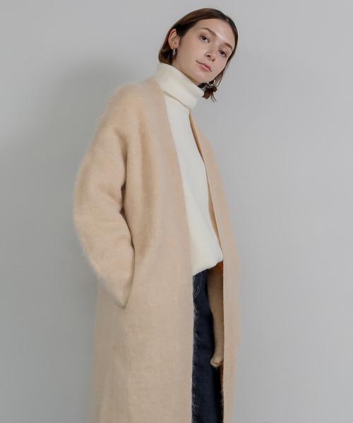 【chuclla】【2020/AW】wool mohair gown cardigan sb-3 chw1347