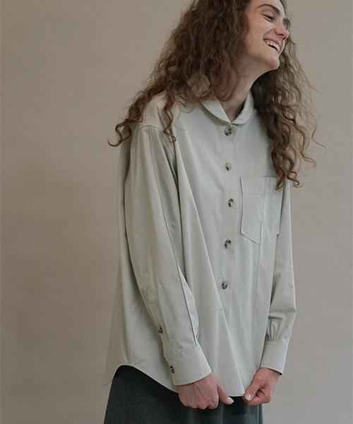 【LeonoraYang】Round collar shirt chw1519