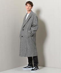 <H>HERRINGBONE TWEED BIG COAT/コート