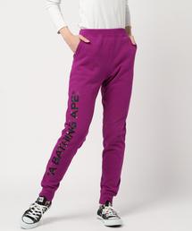 FLOWER EMBROIDERY SLIM SWEAT PANTS L(パンツ)