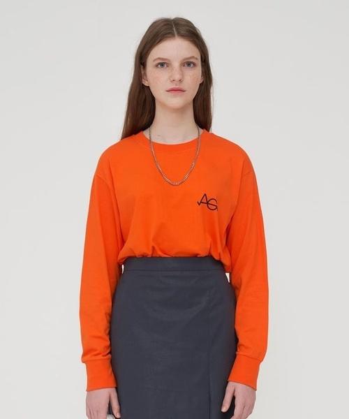 【AGENDER】プリント Tシャツ