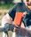 MURA(ムラ)の「L字ファスナー  スキミング防止機能付き 本革 長財布(財布)」 オレンジ