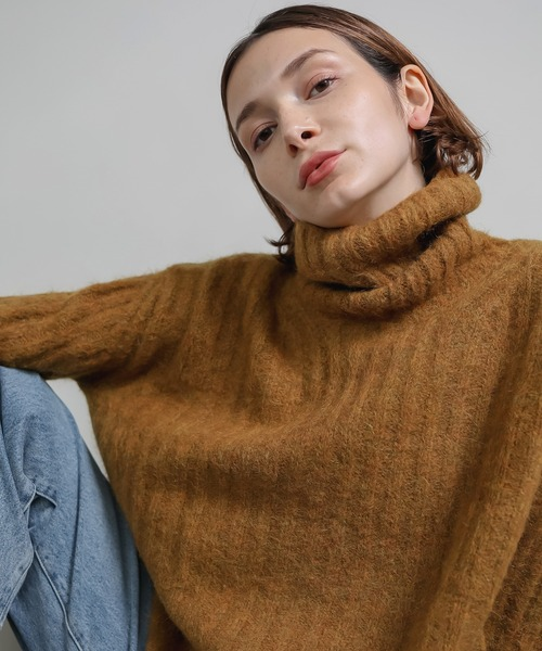 【chuclla】【2020/AW】mohair blend turtleneck knit sb-3 chw1348