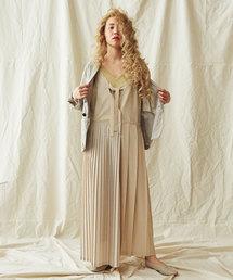 Ebonyivory(エボニーアイボリー)のANASTASIA toroプリーツコラージュワンピース(ドレス)