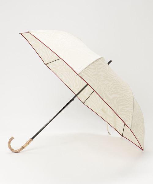 晴雨兼用 T/C透かし柄アニマルショートワイド 折りたたみ傘 27377