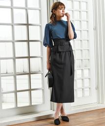 Andemiu(アンデミュウ)の【WEB限定】ワンショルペプラムサススカート848510(スカート)