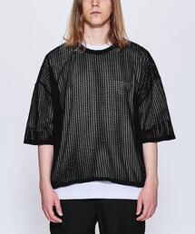 <JieDa> MESH OVER TEE/Tシャツ