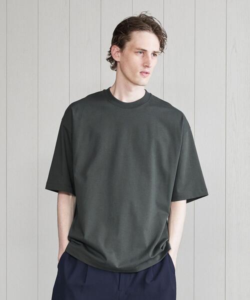 <H>TWIN SUVIN CREW  HALF  SLEEVE T-SHIRT/Tシャツ
