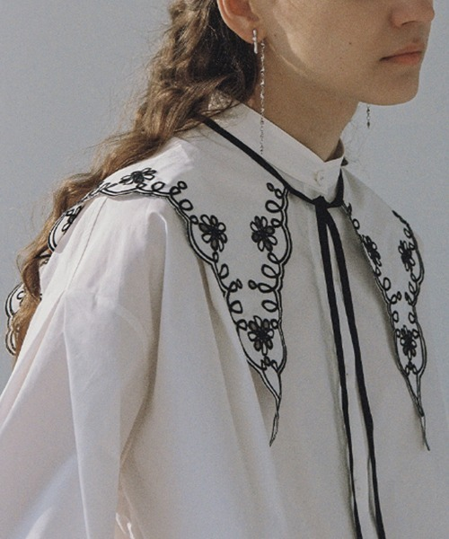 【LeonoraYang】Embroidered collar chw1521