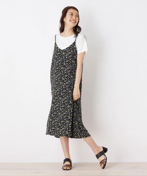 【WEB限定サイズ】Tシャツ+プリントキャミワンピースセット