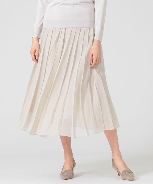 MACKINTOSH LONDON(マッキントッシュ ロンドン)の「ソフトオーガンジースカート(スカート)」 ベージュ