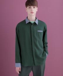 クレリックシャツLong sleeve EMMA CLOTHES 2020AWグリーン