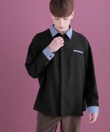 クレリックシャツLong sleeve EMMA CLOTHES 2020AWブラック